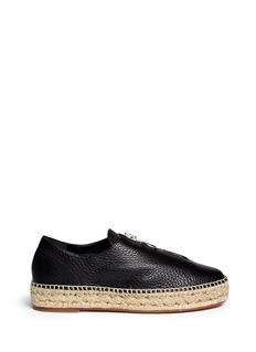 ALEXANDER WANG 'Devon' zip leather espadrille sneakers