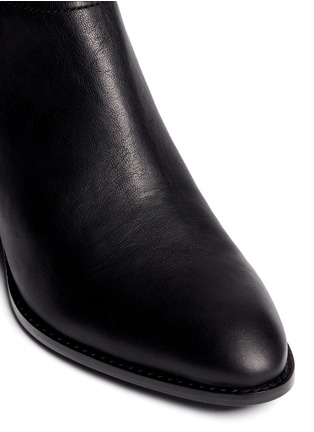 Detail View - Click To Enlarge - Alexander Wang  - Kori' cutout heel leather ankle boots
