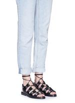 'Patricia' rivet lace-up leather flat sandals