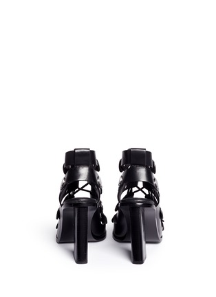 Back View - Click To Enlarge - Alexander Wang  - 'Ilse' rivet lace-up leather sandals