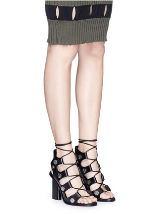 Figure View - Click To Enlarge - Alexander Wang  - 'Ilse' rivet lace-up leather sandals