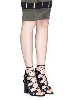 ALEXANDER WANG 'Ilse' rivet lace-up leather sandals