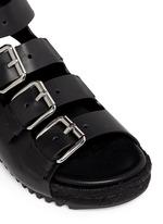'Idina' buckled leather espadrille sandals