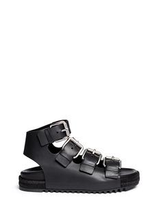 ALEXANDER WANG 'Idina' buckled leather espadrille sandals
