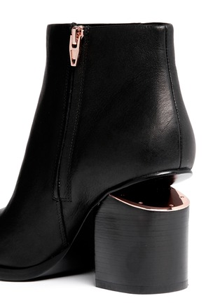 Detail View - Click To Enlarge - Alexander Wang  - 'Gabi' cutout heel leather boots