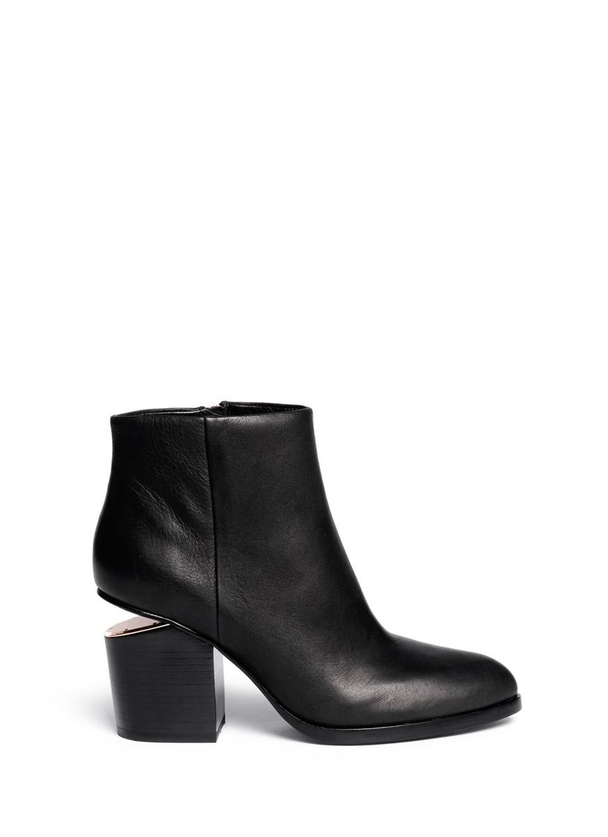 Gabi cutout heel leather boots by Alexander Wang