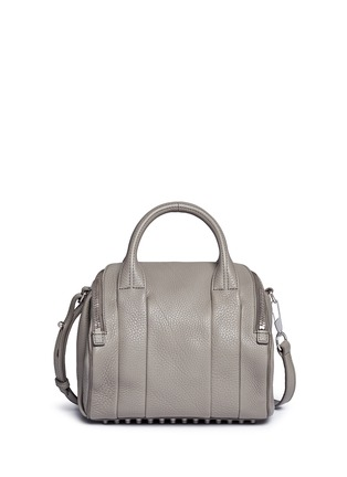 Back View - Click To Enlarge - Alexander Wang  - 'Rockie' pebbled leather duffle bag