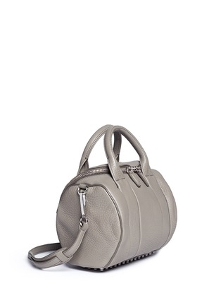 Front View - Click To Enlarge - Alexander Wang  - 'Rockie' pebbled leather duffle bag