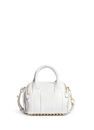 Back View - Click To Enlarge - Alexander Wang  - Mini Rockie' pebbled leather duffle bag