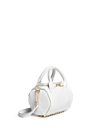 Front View - Click To Enlarge - Alexander Wang  - Mini Rockie' pebbled leather duffle bag