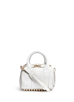 Main View - Click To Enlarge - Alexander Wang  - Mini Rockie' pebbled leather duffle bag