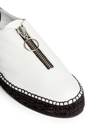 Detail View - Click To Enlarge - Alexander Wang  - Devon' zip leather espadrille sneakers