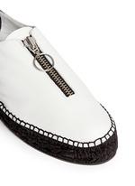 Devon' zip leather espadrille sneakers