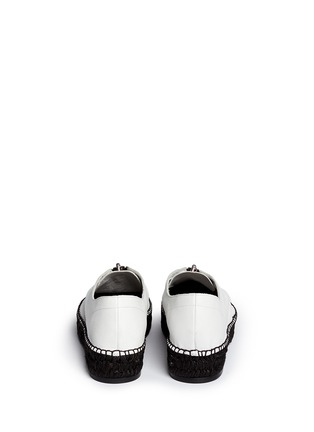 Back View - Click To Enlarge - Alexander Wang  - Devon' zip leather espadrille sneakers