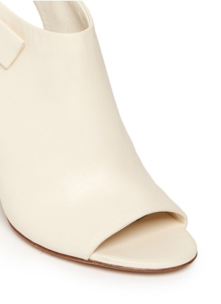 Detail View - Click To Enlarge - Alexander Wang  - 'Nadia' cutout heel peep toe leather booties