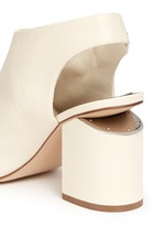 'Nadia' cutout heel peep toe leather booties