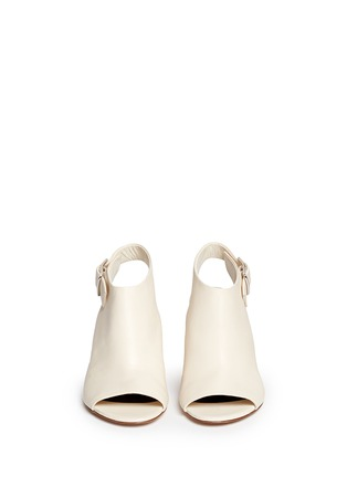 Figure View - Click To Enlarge - Alexander Wang  - 'Nadia' cutout heel peep toe leather booties