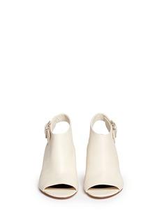 ALEXANDER WANG 'Nadia' cutout heel peep toe leather booties