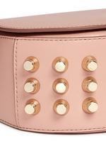 Lia' mini leather saddle sling bag
