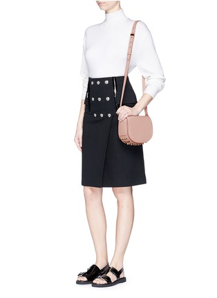 Figure View - Click To Enlarge - Alexander Wang  - Lia' mini leather saddle sling bag