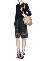 'Mini Marti' washed lambskin leather three-way backpack
