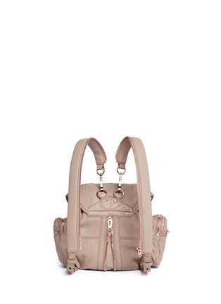 Back View - Click To Enlarge - Alexander Wang  - 'Mini Marti' washed lambskin leather three-way backpack