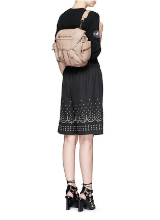 Figure View - Click To Enlarge - Alexander Wang  - 'Mini Marti' washed lambskin leather three-way backpack