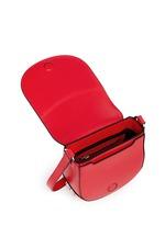 'Lia' mini leather saddle sling bag