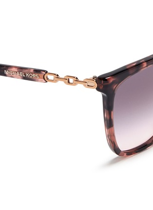 Detail View - Click To Enlarge - Michael Kors - Chain link tortoiseshell acetate sunglasses