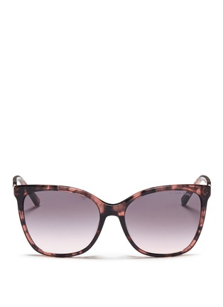 Main View - Click To Enlarge - Michael Kors - Chain link tortoiseshell acetate sunglasses