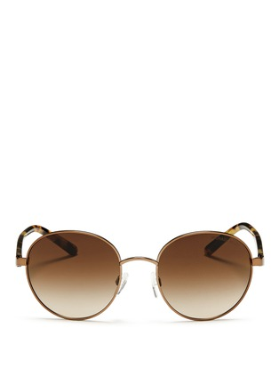 Main View - Click To Enlarge - Michael Kors - 'Sadie III' tortoiseshell acetate temple round sunglasses