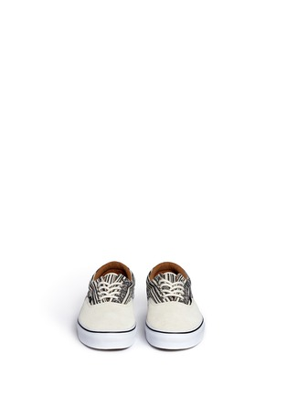 Front View - Click To Enlarge - Vans - 'Era' tribal stripe print canvas sneakers