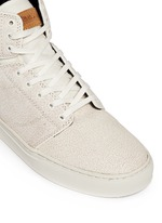 'Alomar' crackle leather mid top sneakers