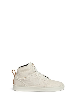 Main View - Click To Enlarge - Vans - 'Alomar' crackle leather mid top sneakers