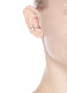 Lynn Ban'Channel Orbital Hoop' diamond silver single ear cuff