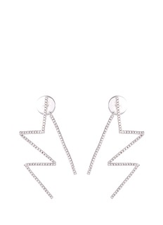 Lynn Ban 'Pavé Flash' diamond sterling silver earrings