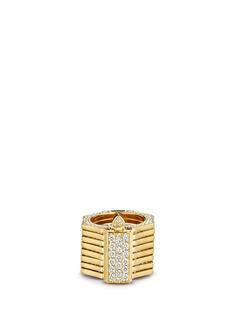 Lynn Ban'Reverso' diamond 14k yellow gold octagonal convertible bracelet ring