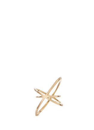 Lynn Ban - 'Pavé Orbit' diamond 14k gold ring