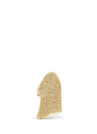 Main View - Click To Enlarge - Lynn Ban - 'Pavé Armor' diamond 14k yellow gold ring