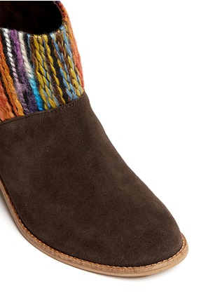 Detail View - Click To Enlarge - TOMS - 'Leila' textile suede combo ankle boots