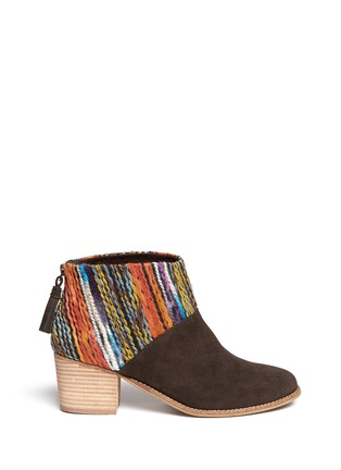 Main View - Click To Enlarge - TOMS - 'Leila' textile suede combo ankle boots