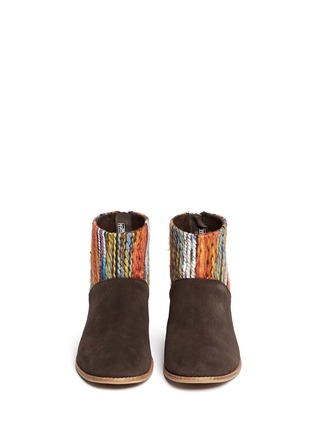 Figure View - Click To Enlarge - TOMS - 'Leila' textile suede combo ankle boots