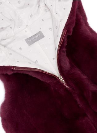 Detail View - Click To Enlarge - Yves Salomon - Stripe rabbit fur zip hooded junior gilet