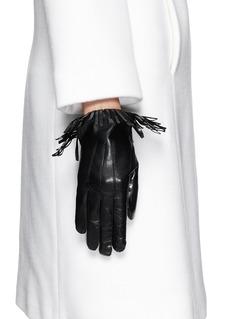 MAISON FABRE'Cowboy' fringe lamb leather gloves