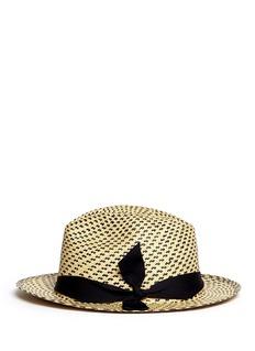SENSI STUDIO'New Erosion' twist band panama hat