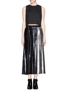 PROENZA SCHOULERFoil print plissé pleat maxi skirt