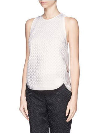 正面 -点击放大 - 3.1 PHILLIP LIM - Quilted snakeskin effect top