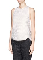 Quilted snakeskin effect top
