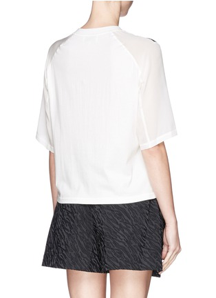 3.1 PHILLIP LIM - Silk chiffon sleeve sketch stripe top