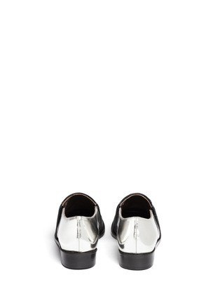 Back View - Click To Enlarge - Marni - Leather and calf hair slip-ons